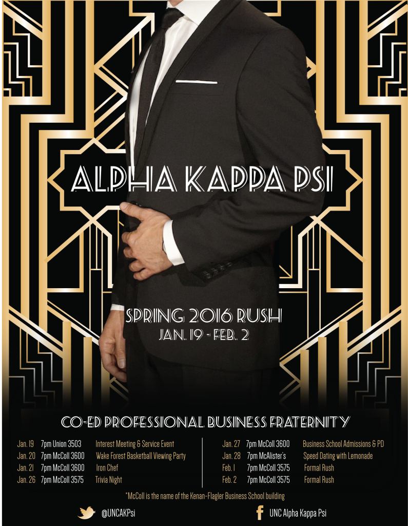 AKPsi Rush Poster
