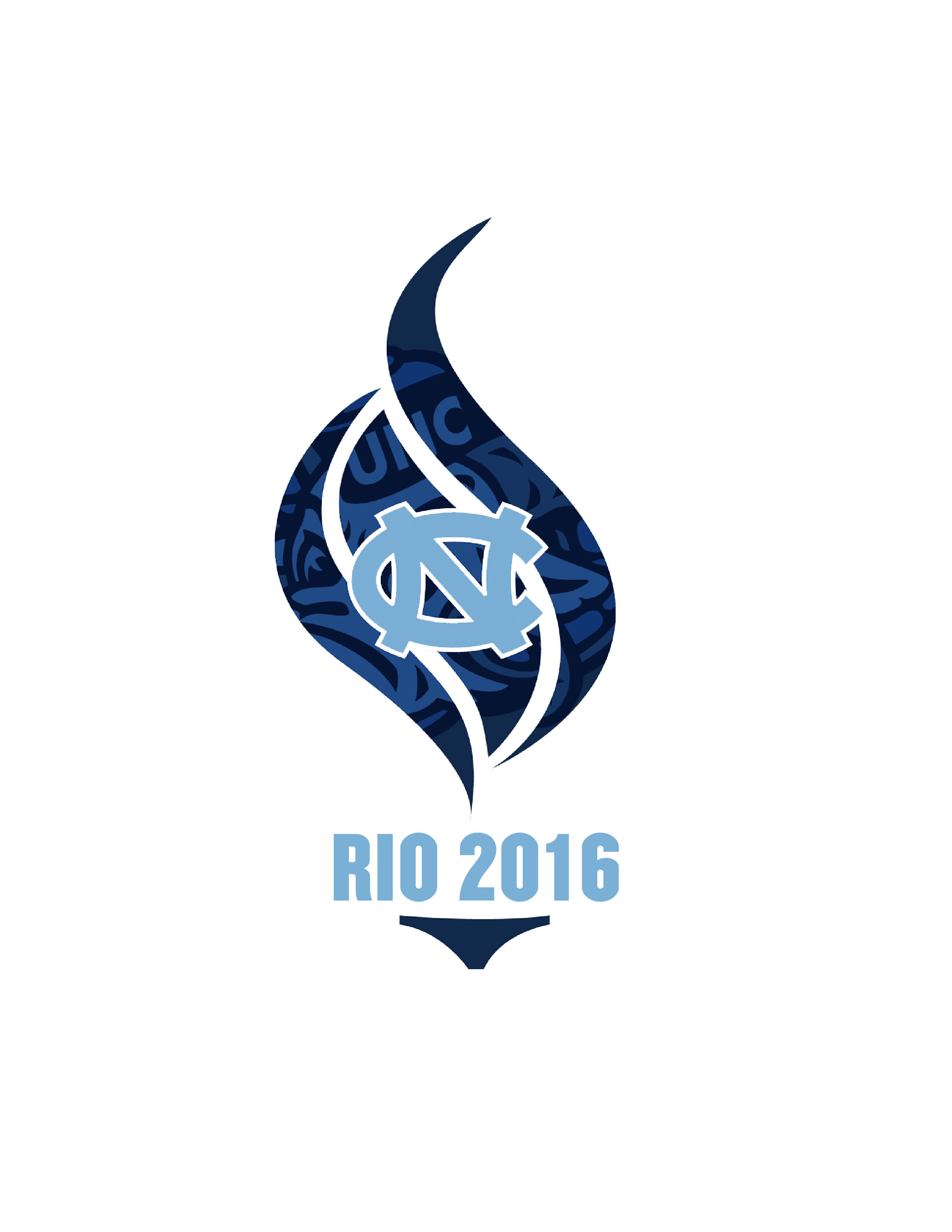 UNC Athletes in the Olympics<div style='clear:both;width:100%;height:0px;'></div><span class='desc'>Created as a logo to represent UNC athletes in the 2016 Olympics.</span>