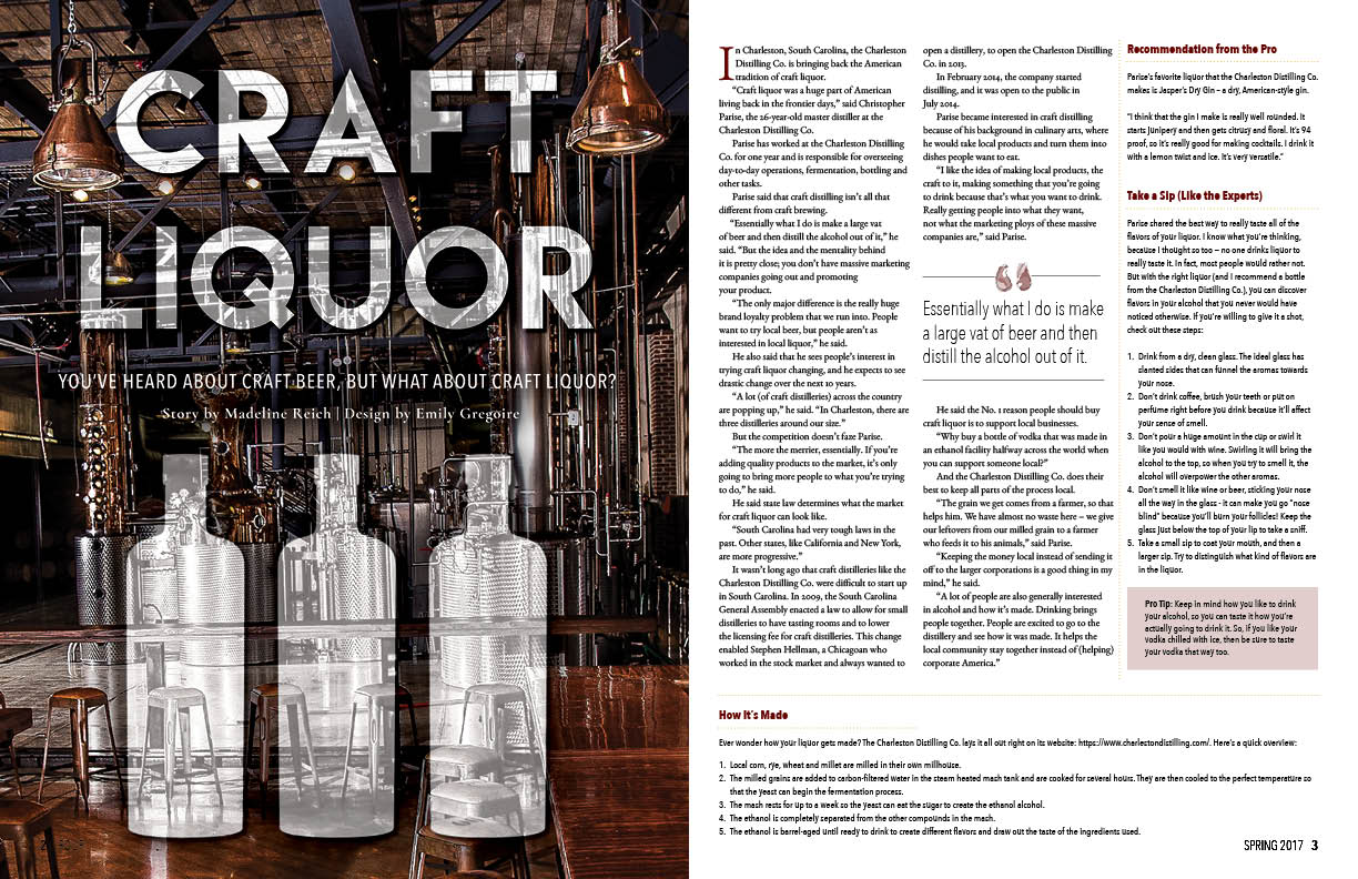 Pour Magazine Craft Liquor Spread<div style='clear:both;width:100%;height:0px;'></div><span class='desc'>Created for a magazine design class where we created a magazine about beer and wine for millennials throughout the semester.</span>